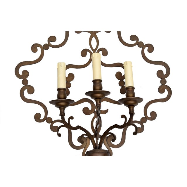 Italian Wrought Iron Applique, Wall Sconce - Image 3 of 5