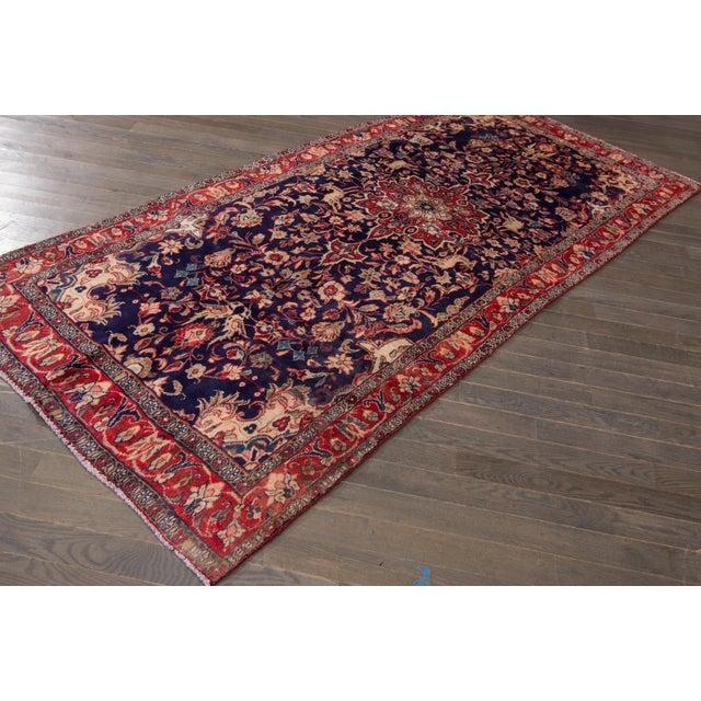 "Islamic Vintage Persian Hamadan Rug, 4'4"" X 9'3"" For Sale - Image 3 of 4"