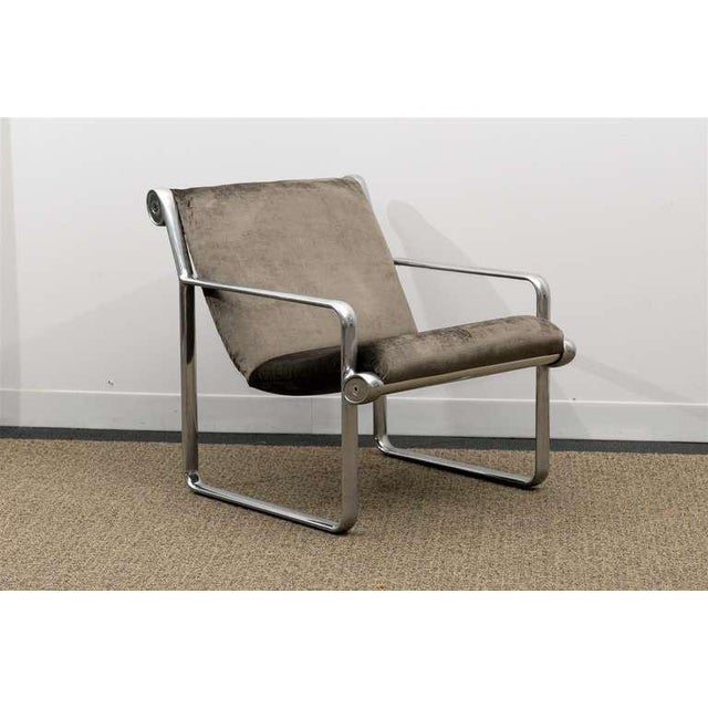 An absolutely stunning pair of the iconic lounge chair designed by Bruce Hannah and Andrew Morrison for Knoll, circa...
