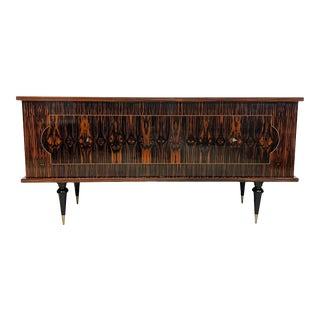 1940s French Art Deco Exotic Macassar Ebony Sideboard or Credenzas For Sale