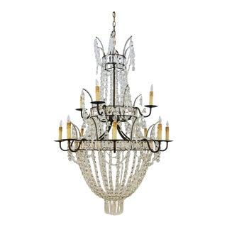 Currey & Co. Granada Crystal Chandelier For Sale