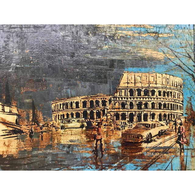 Italian Vintage Mid-Century Roman Colosseum Painting For Sale - Image 3 of 7