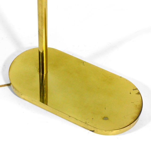 Gold Casella Adjustable Brass Pharmacy Floor Lamp For Sale - Image 8 of 11