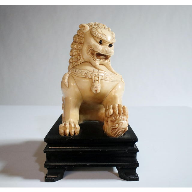 Mid-Century Chinese Guardian Foo Lion Sculpture - Image 5 of 8