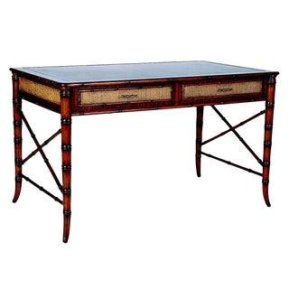 David Francis Mahogany Writing Desk For Sale
