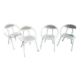 Rid-Jid Salterini Mid Century White Chairs - Set of 4 For Sale