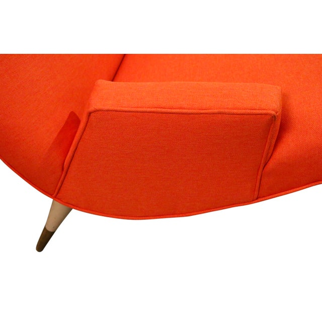 Selig Mid Century Modern Wave Chaise Lounge by Lawrence Peabody for Selig For Sale - Image 4 of 8