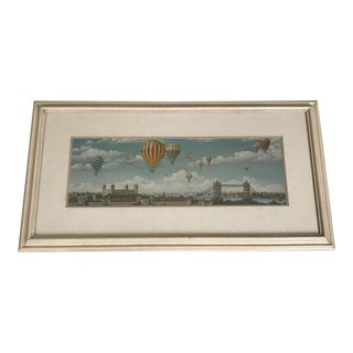 Contemporary Hot Air Balloons Over London Framed Print For Sale