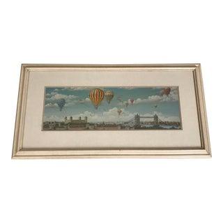 Framed Hot Air Balloons Over London Print