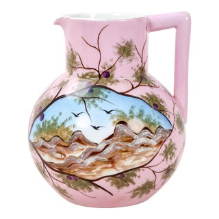 Vintage Pink Porcelain Jug For Sale