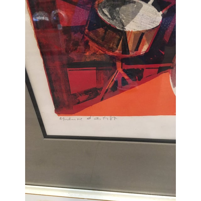 Abstract Jazz Players Litho Signed Abstract For Sale - Image 3 of 6