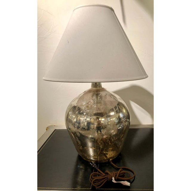 Silver Ralph Lauren Mercury Glass Table Lamp For Sale - Image 8 of 12