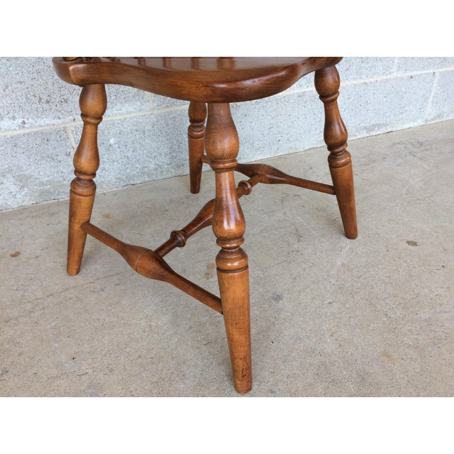 Brown Tell City Maple Windsor Brace Back Dining Chairs - Set of 6 For Sale - Image 8 of 11