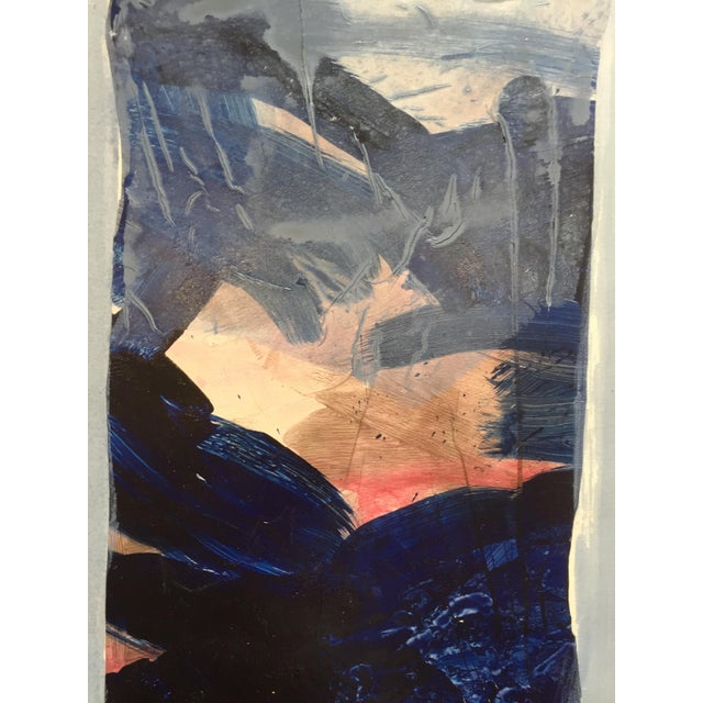 Blue Border Patricia Zippin Vintage Abstract For Sale In San Francisco - Image 6 of 7