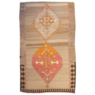 "Early 20th Century Shahsavan Kilim Rug - 52"" x 91"" For Sale"