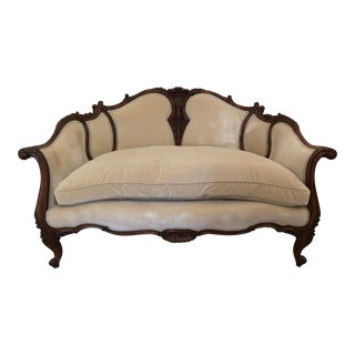 Late 18th Century Antique Louis XVI French Settee For Sale