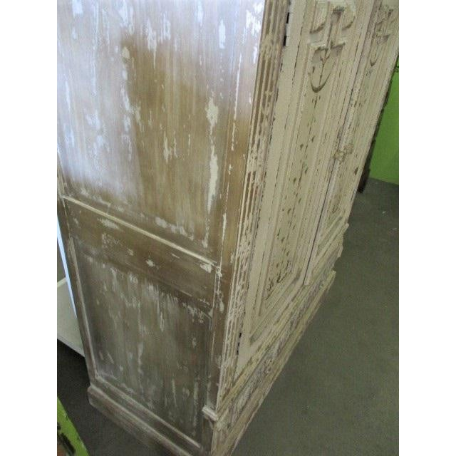 Storage Cabinet White Shabby Chic Sweetish Style Cupboard For Sale - Image 5 of 6
