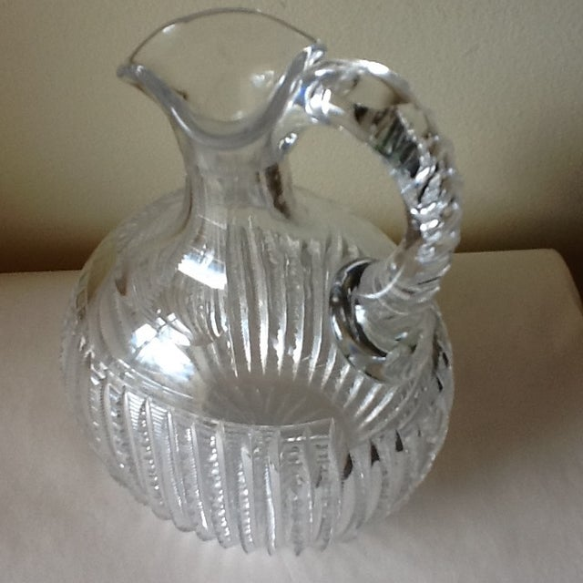 Vintage Etched Crystal Decanter or Pitcher - Image 9 of 11