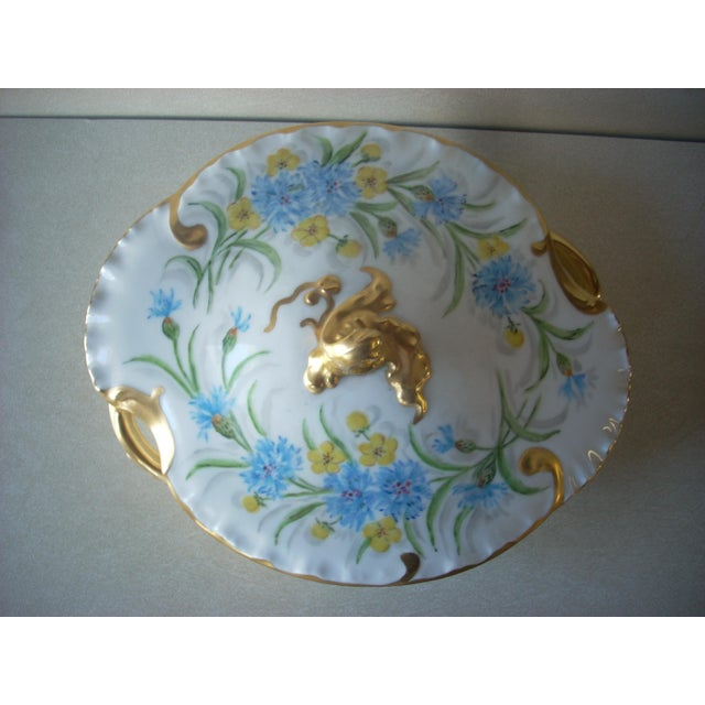 Haviland Limoges made in France hand painted and signed by the artist, Helen Lynch early 1930's; lavish gold baroque...