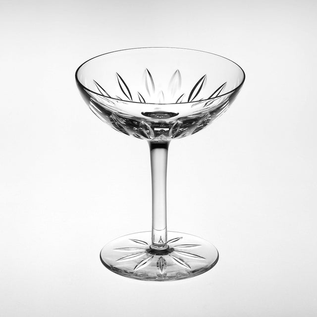 Contemporary Set of 6 Mixed Cut Crystal Champagne Coupés For Sale - Image 3 of 8