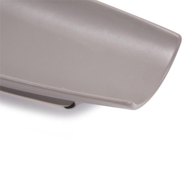 2020s Kenneth Ludwig Matte Gray Ceramic Canoe Tray For Sale - Image 5 of 7