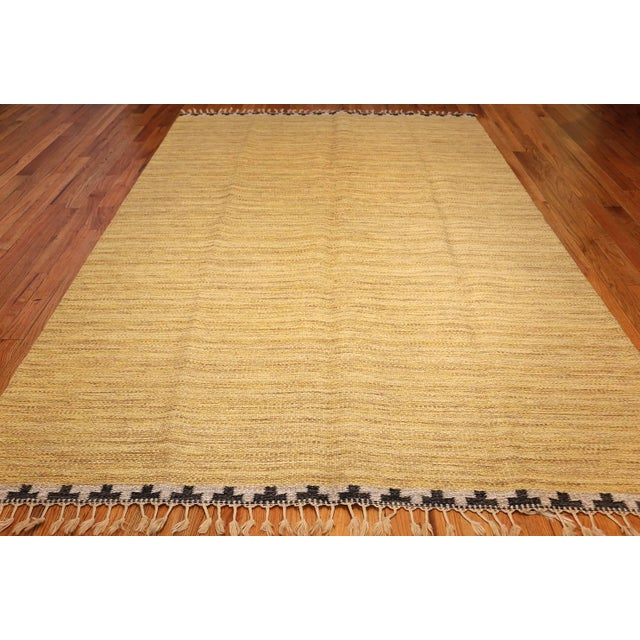 Country Vintage Swedish Rug by Rakel Callander - 6′6″ × 10′ For Sale - Image 3 of 8