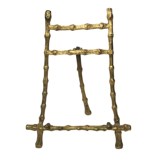 Vintage Brass Bamboo Picture Easel - Image 1 of 5