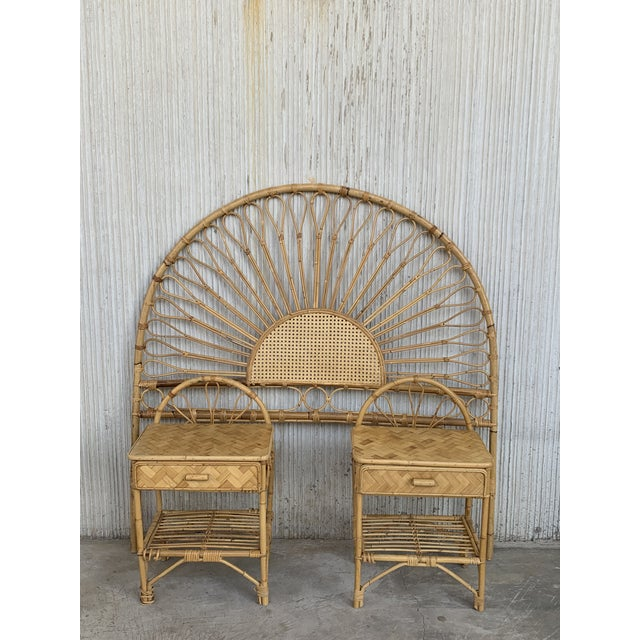 Mid-Century Modern Bamboo and Bentwood Headboard For Sale - Image 9 of 11