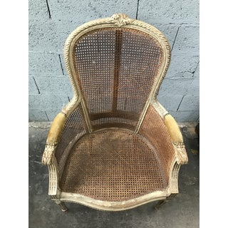 Antique French Caned Fauteuil Chair Preview