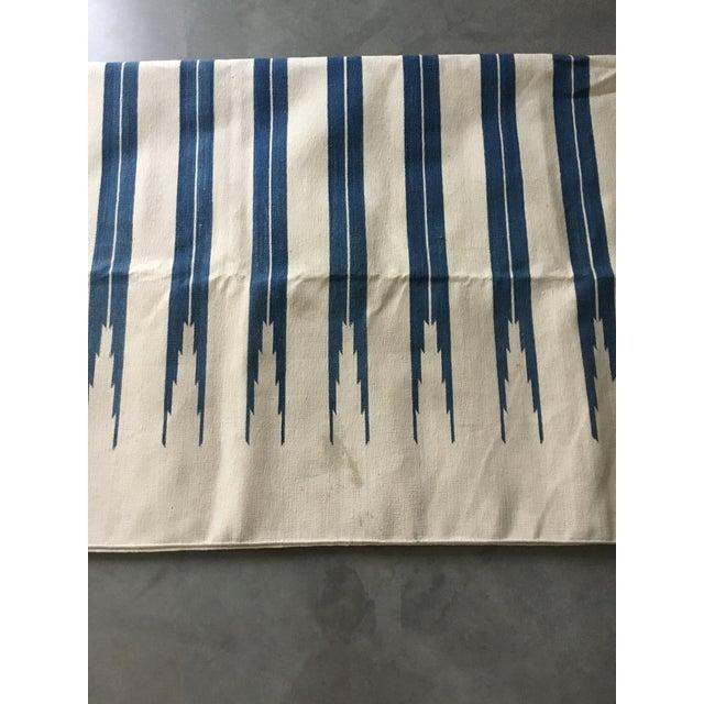 "Dhurrie Rug Custom Handmade in India - 72"" x 99"" - Image 7 of 10"