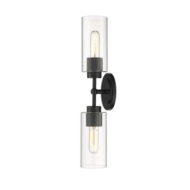 Black Brooklyn 2 Light Sconce/Vanity, Matte Black For Sale - Image 8 of 10