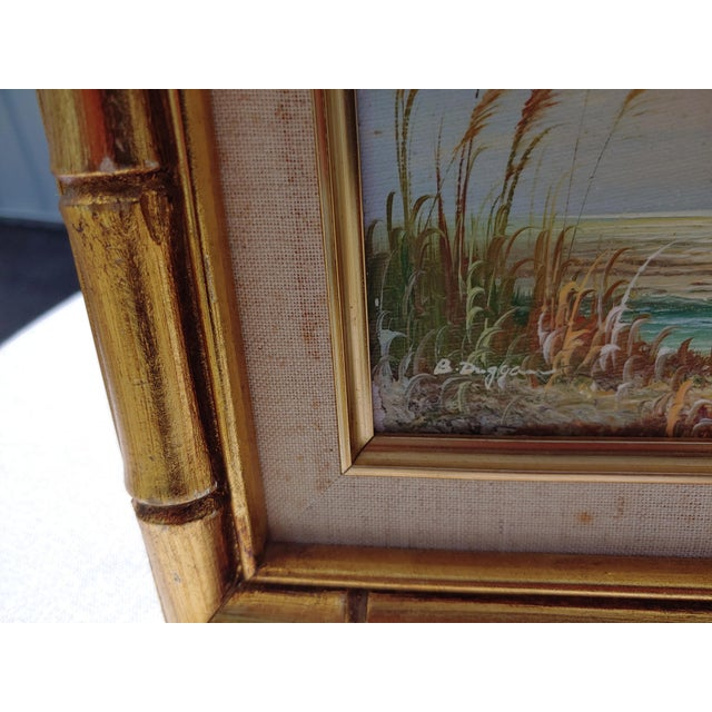 """""""Birds and Sea"""" Vintage Oil Painting by Bernard Duggan For Sale In Orlando - Image 6 of 8"""