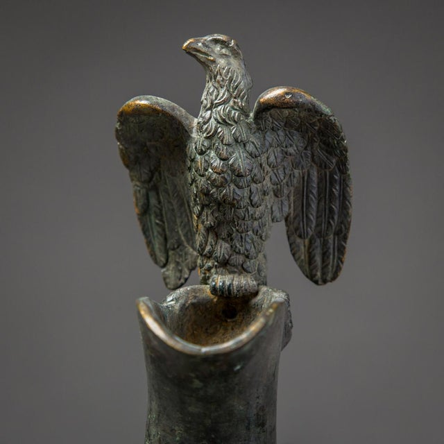Bronze Bronze Ewer With Bird Finial and Handle For Sale - Image 7 of 9