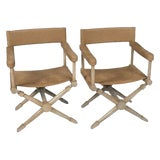 Image of McGuire Director's Chairs-a Pair For Sale