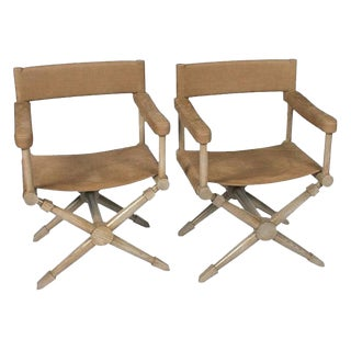 McGuire Director's Chairs-a Pair For Sale