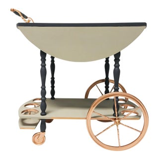 Vintage Rose Gold Tea Cart