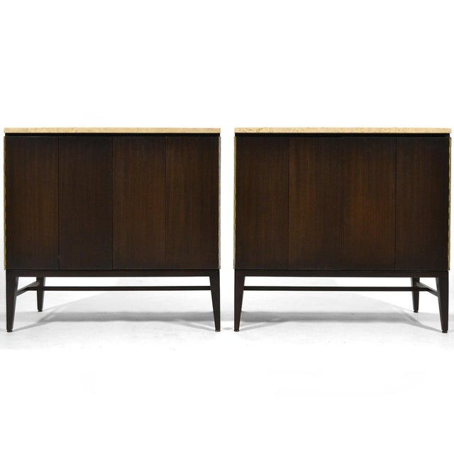 Paul McCobb Cabinets/ Credenzas with TravertineTops by Calvin For Sale - Image 11 of 11