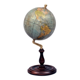 Antique English Philips Globe on Stand, Circa 1920s For Sale