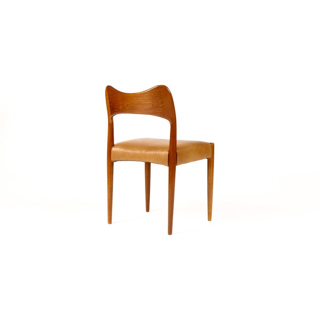 Vintage Mid Century Danish a.h. Olsen for Mogens Kold Teak Dining Chairs- Set of 6 For Sale In Los Angeles - Image 6 of 10