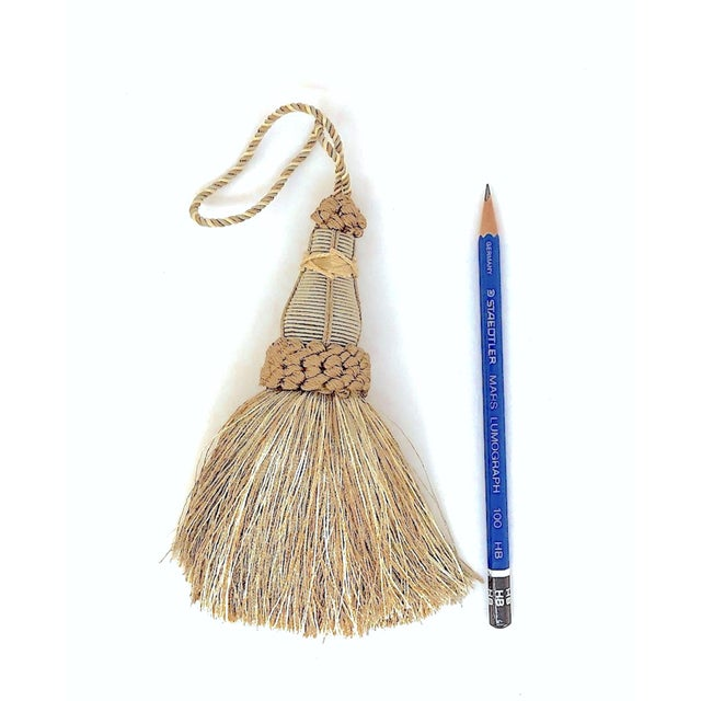 Key Tassels in Khaki and Bronze With Ruche Trim - a Pair For Sale - Image 9 of 12
