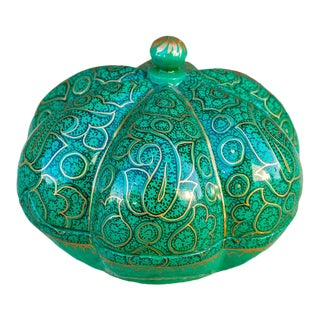 Emerald Green Persian Kashmiri Box For Sale
