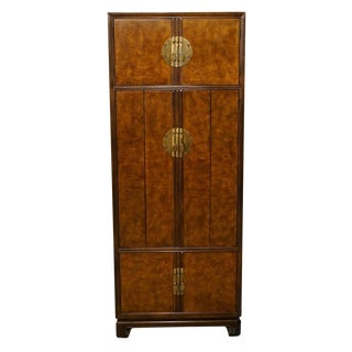 Late 20th Century Vintage Drexel Tai Ming Collection Asian Chinoiserie Cabinet For Sale