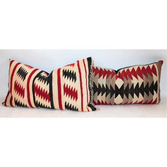 Navajo Saddle Blanket Bolster Pillows - Collection of 3 For Sale - Image 4 of 13