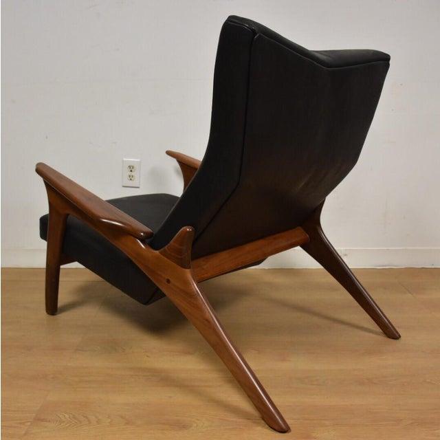 Adrian Pearsall Black Leather Lounge Chair Chairish