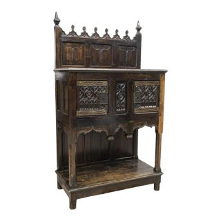Early 19th Century French Gothic Revival Court Cabinet For Sale