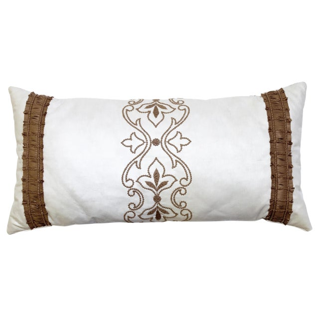 Beacon Hill Faux Leather Lumbar Pillow - Image 1 of 3
