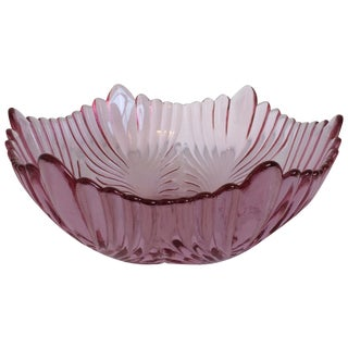 Fenton Pink Bowl For Sale