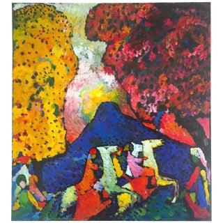 "Kandinsky Vintage 1999 Expressionist Lithograph Calendar Print "" Blue Mountain "" 1908"