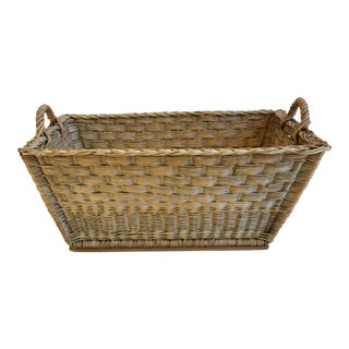 French Woven Wicker/Willow Market Basket