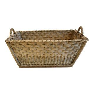 French Woven Wicker/Willow Market Basket